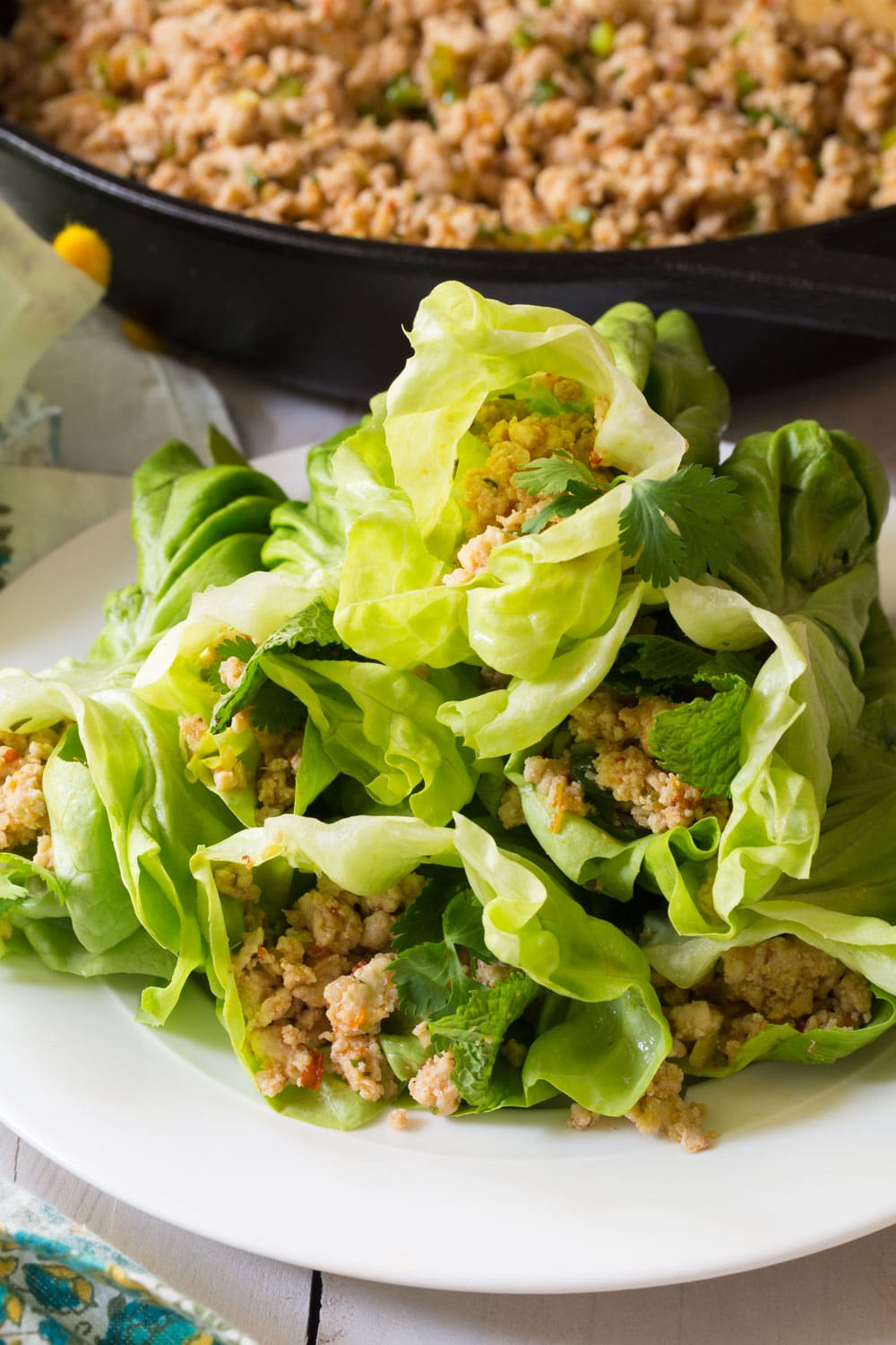 Keto Thai Larb Rolls Recipe #ASpicyPerspective #ketogenic #paleo