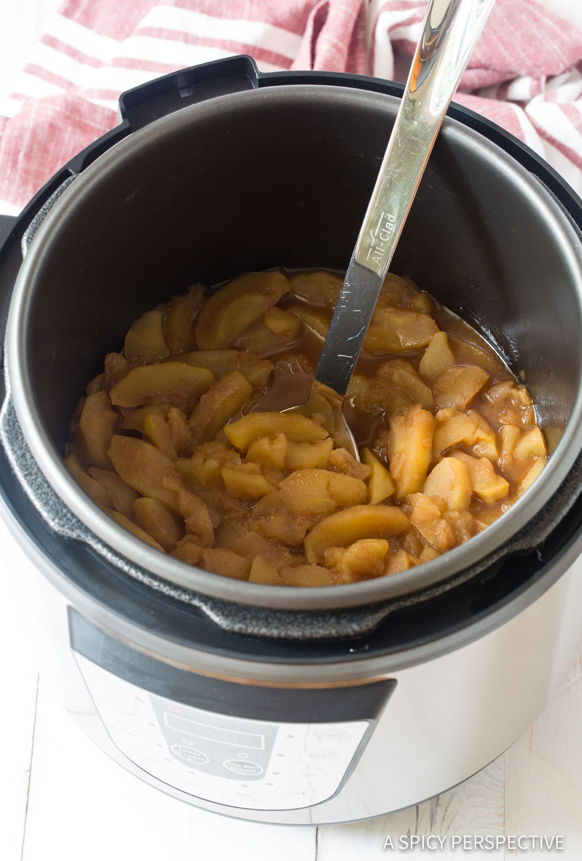 Simple Pressure Cooker Spiced Apples Recipe #ASpicyPerspective