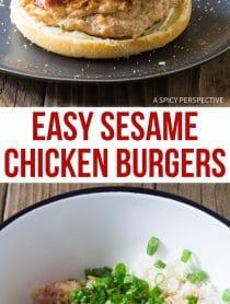 We Love These Easy Sesame Chicken Burgers Recipe (Skinny Hamburgers)