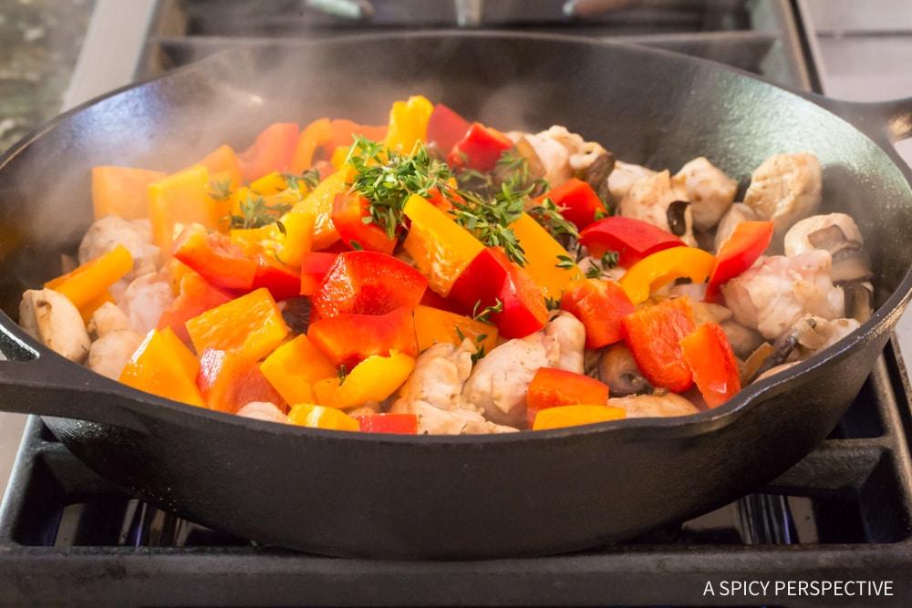 Must-Make Skinny Chicken A La King Recipe #ASpicyPerspective #lowcarb #retro #vintage