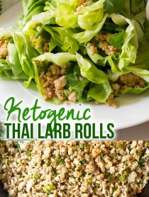 Perky Keto Thai Larb Rolls Recipe #ASpicyPerspective #ketogenic #paleo