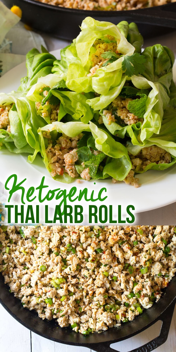 Perky Keto Thai Larb Rolls Recipe #ASpicyPerspective #ketogenic #paleo