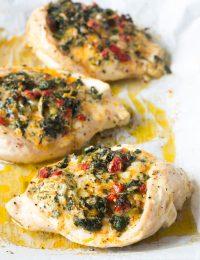 Cheesy Spinach Stuffed Chicken Breasts Recipe #ASpicyPerspective