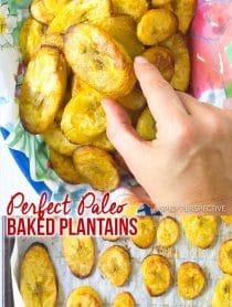 Perfect Paleo Baked Plantains Recipe #ASpicyPerspective #Paleo