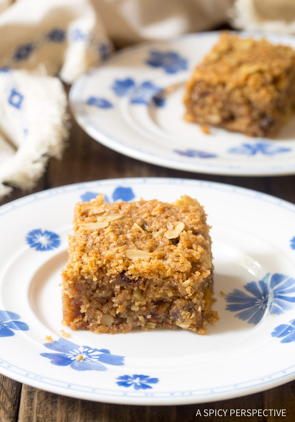 Breakfast Oat Bar Recipe #GlutenFree #Vegan #ASpicyPerspective