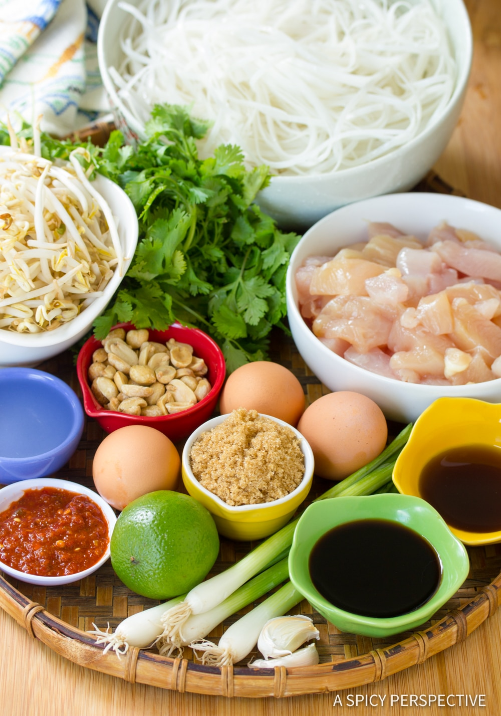 Making Easy Chicken Pad Thai Recipe #ASpicyPerspective