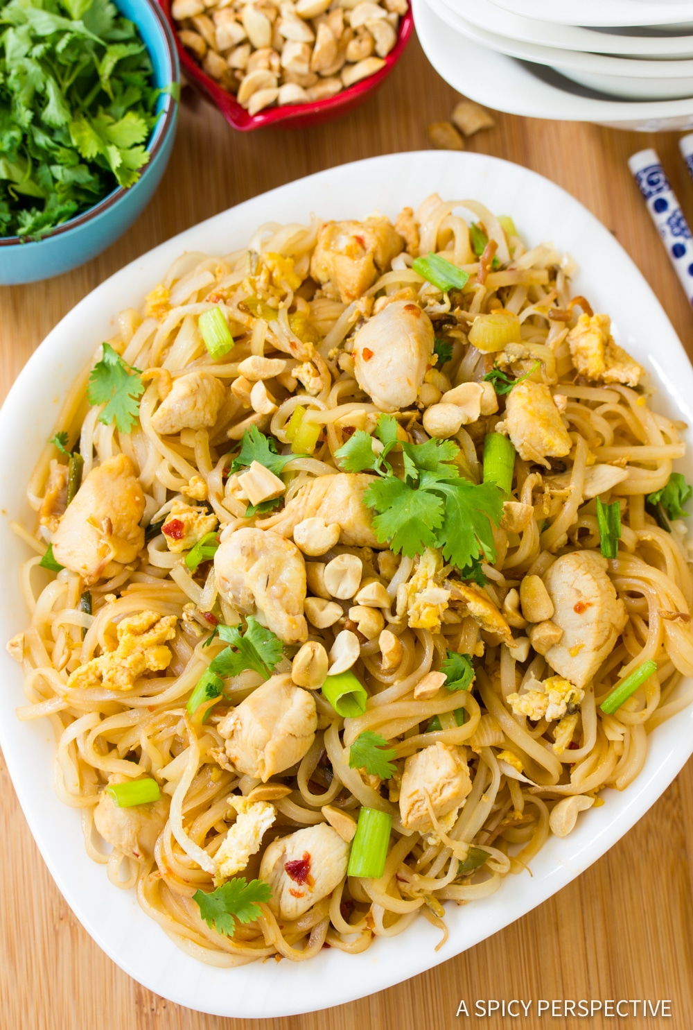 One-Pan Easy Chicken Pad Thai Recipe #ASpicyPerspective