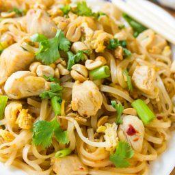 Easy Chicken Pad Thai Recipe #ASpicyPerspective