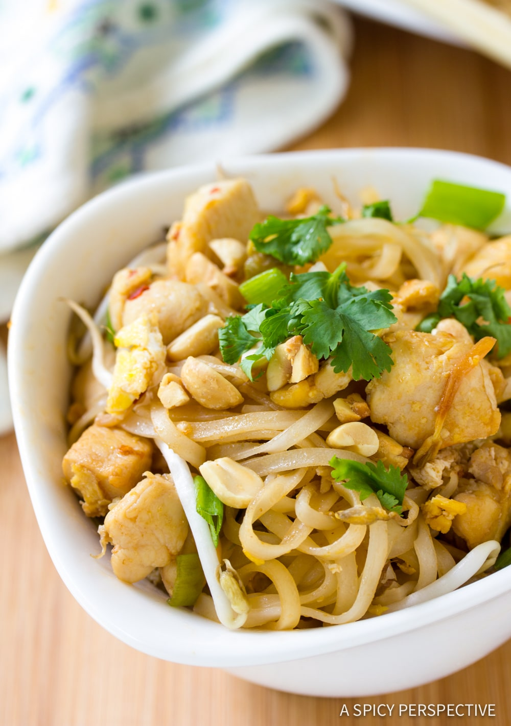 One-Pot Easy Chicken Pad Thai Recipe #ASpicyPerspective