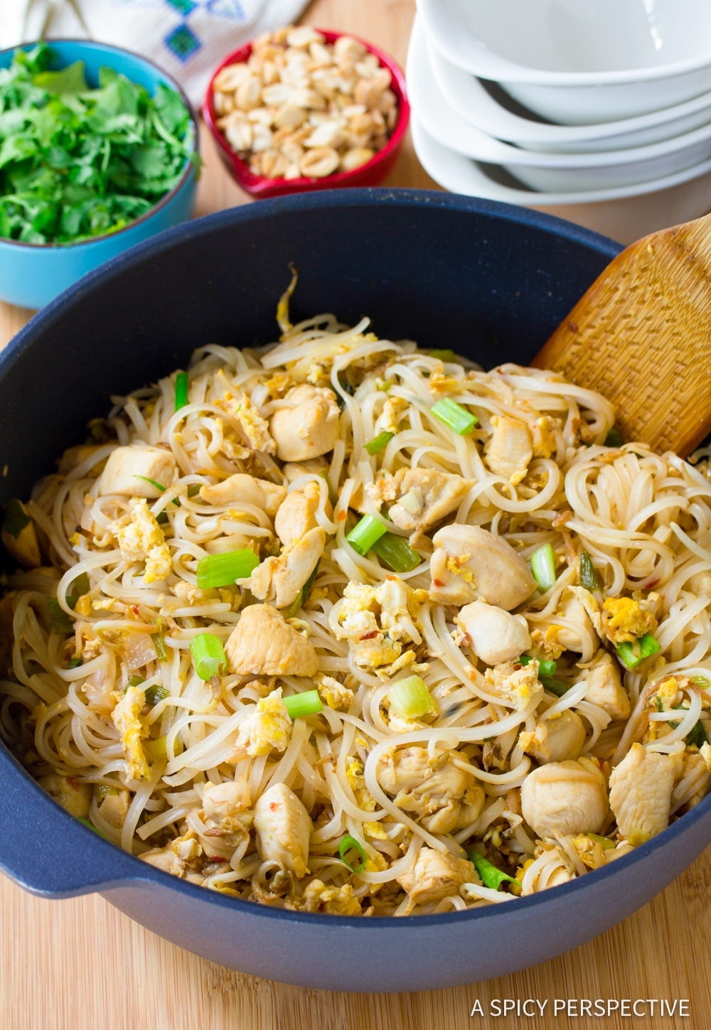 Easy Chicken Pad Thai Recipe #ASpicyPerspective
