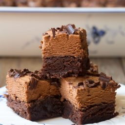 French Silk Chocolate Brownies Recipe #ASpicyPerspective
