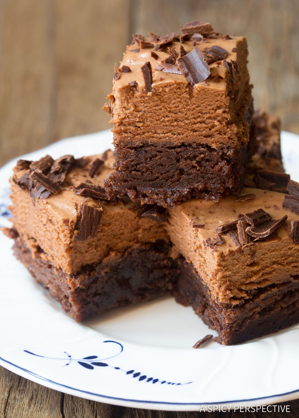 My Obsession! French Silk Chocolate Brownies Recipe #ASpicyPerspective