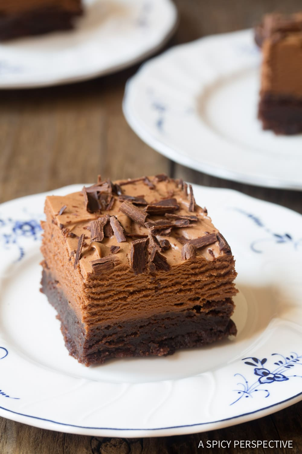 THE French Silk Chocolate Brownies Recipe #ASpicyPerspective