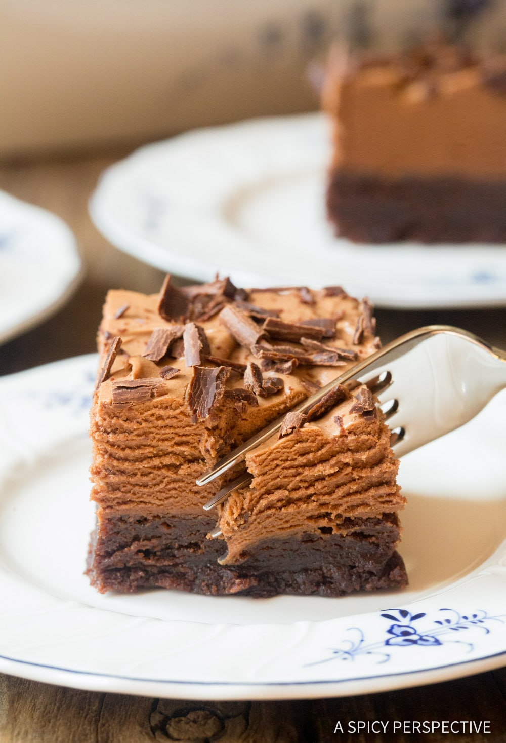 Perfect French Silk Chocolate Brownies Recipe #ASpicyPerspective