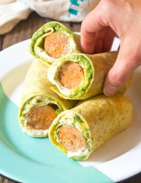 Keto Breakfast Egg Wrap Recipe #ASpicyPerspective #LowCarb