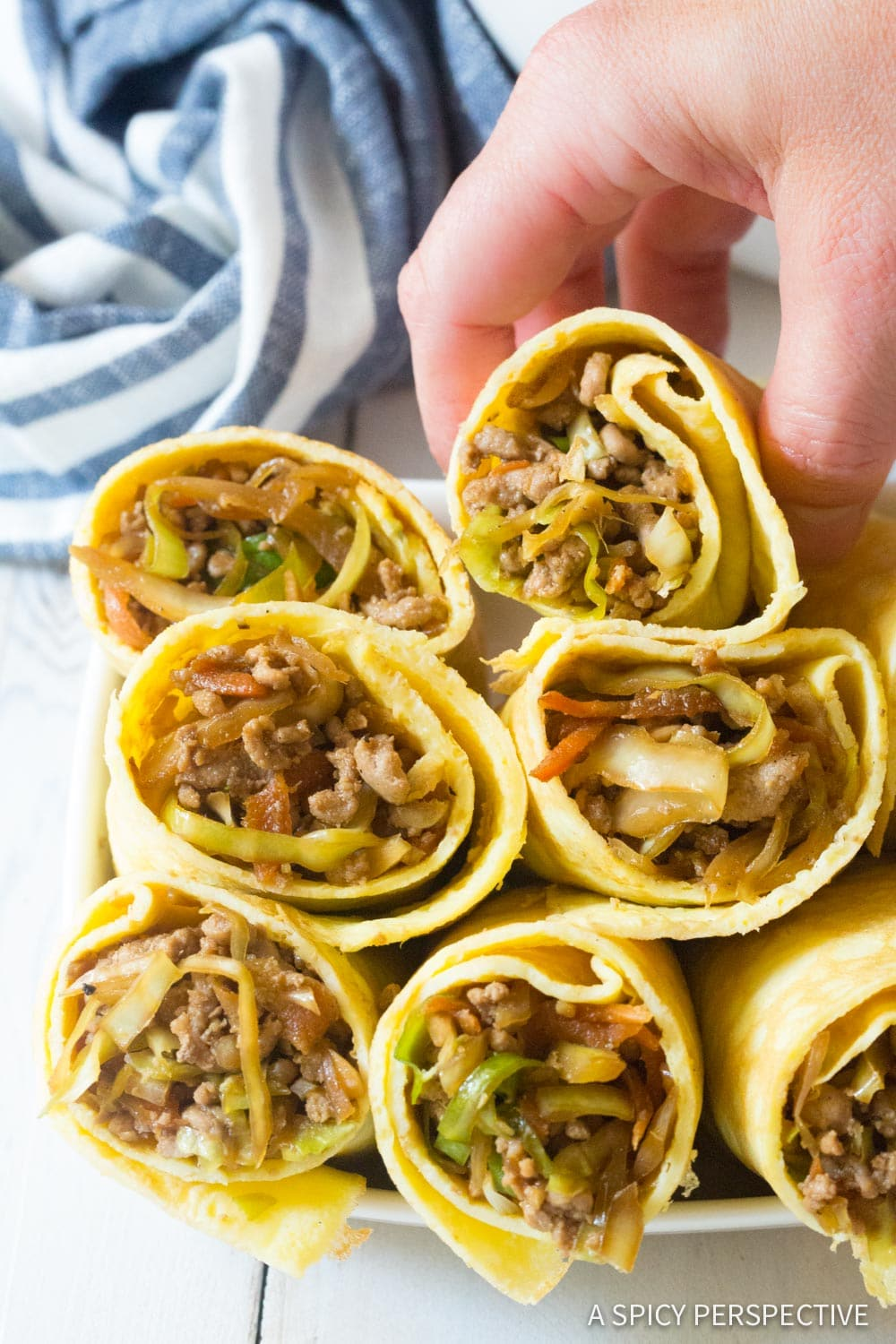 Keto Egg Roll Wrap Recipe #ASpicyPerspective #Ketogenic #Paleo