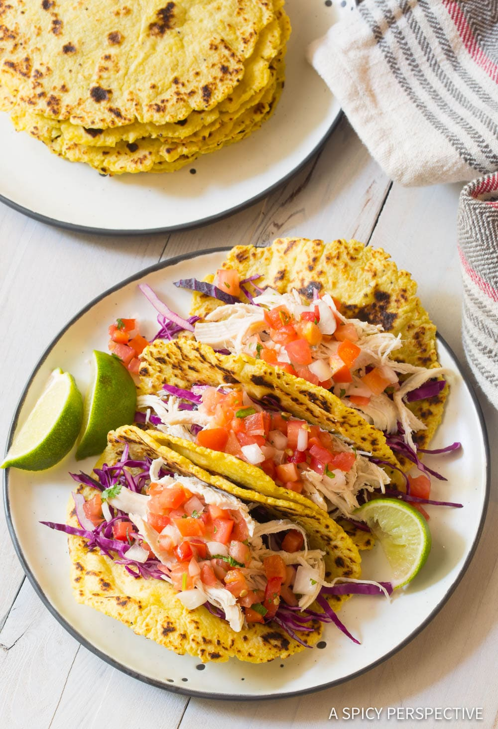 2-Ingredient Magic Plantain Tortillas Recipe #ASpicyPerspective #Paleo #GlutenFree #GrainFree #DairyFree