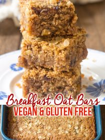 Soft Breakfast Oat Bar Recipe #GlutenFree #Vegan #ASpicyPerspective