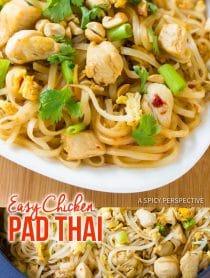 Perfect Easy Chicken Pad Thai Recipe #ASpicyPerspective