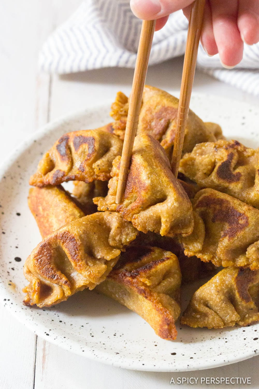 Perfect Paleo Chinese Dumplings Recipe (Potstickers) #ASpicyPerspective #grainfree #dairyfree