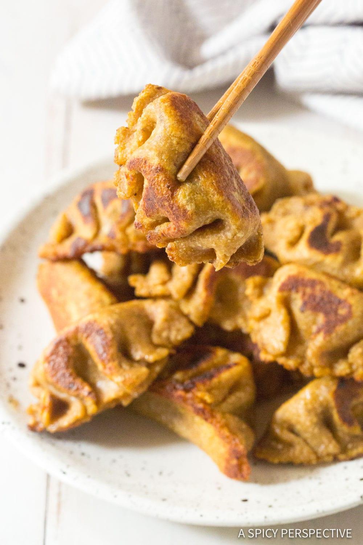 Magic Paleo Chinese Dumplings Recipe (Potstickers) #ASpicyPerspective #grainfree #dairyfree
