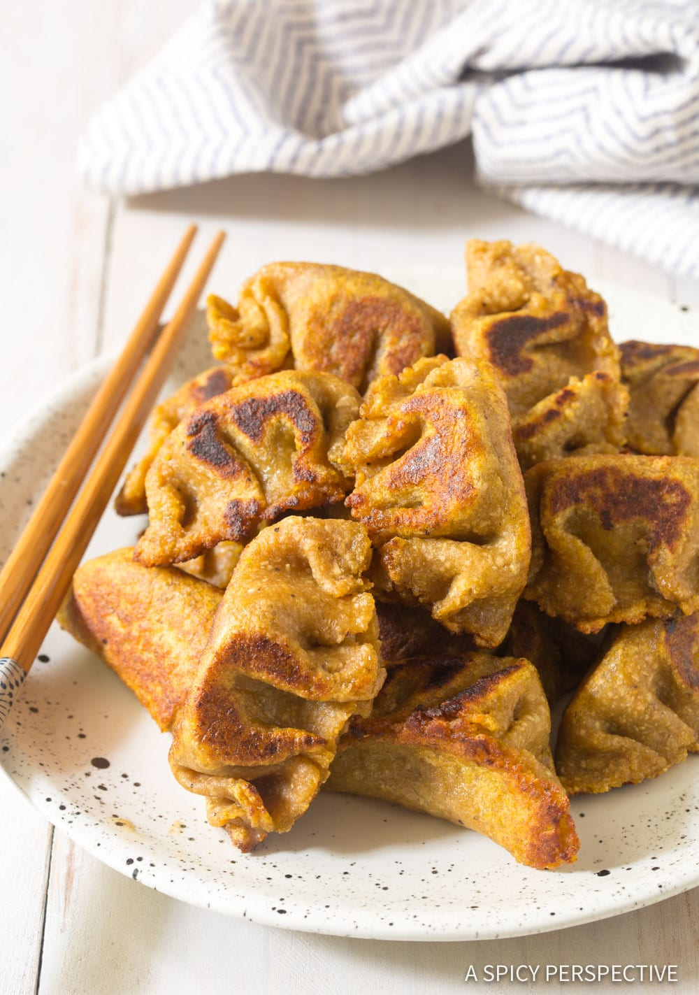 Best Paleo Chinese Dumplings Recipe (Potstickers) #ASpicyPerspective #grainfree #dairyfree