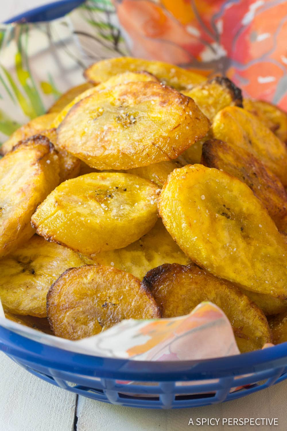 How to deep fry plantain chips