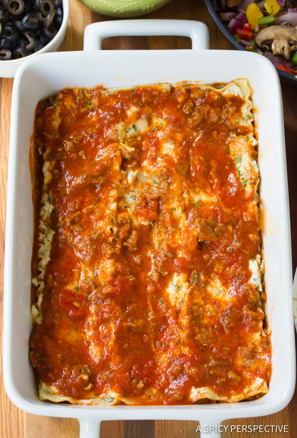 How To Make: Supreme Pizza Lasagna Recipe #ASpicyPerspective