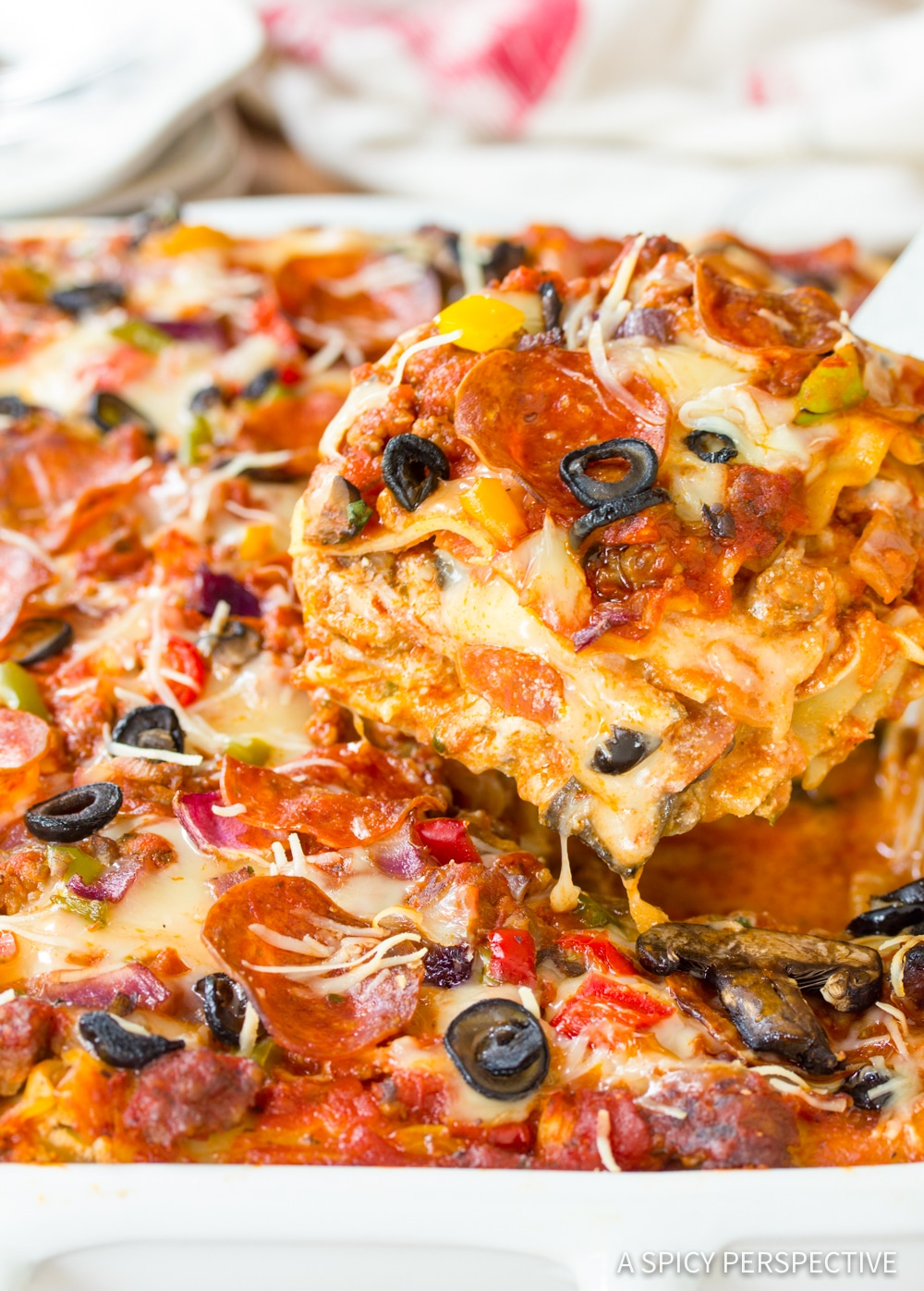 Supreme Pizza Lasagna Recipe #ASpicyPerspective