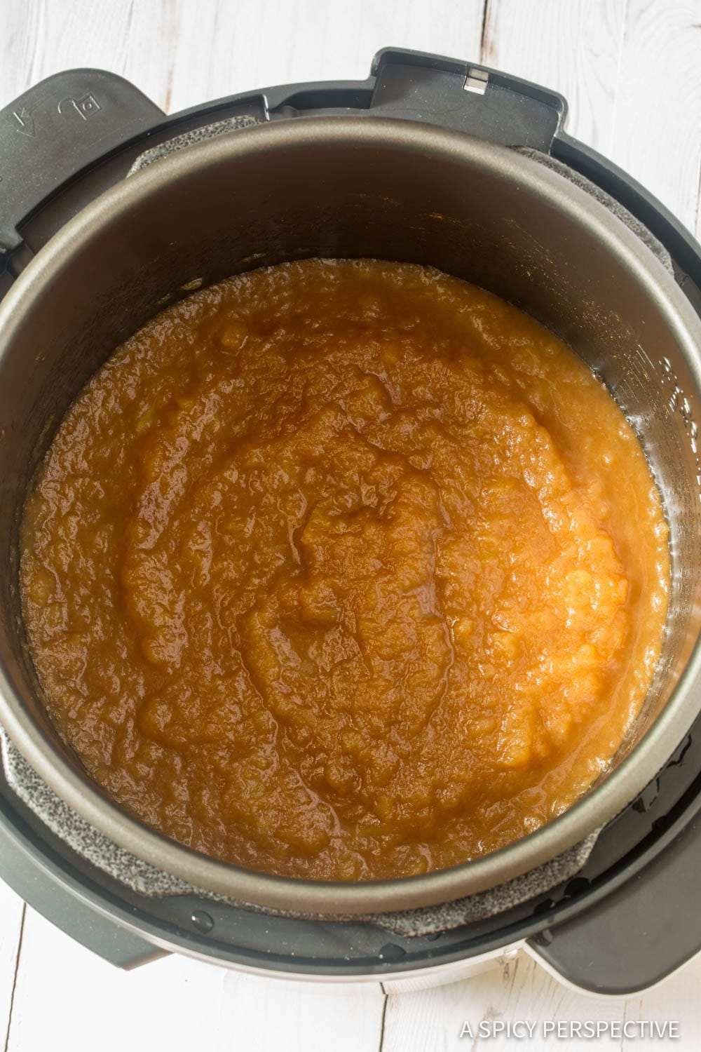 Easy Homemade Instant Pot Applesauce Recipe #ASpicyPerspective #PressureCooker