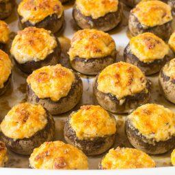 Best Cheese Stuffed Mushrooms Recipe #ASpicyPerpective