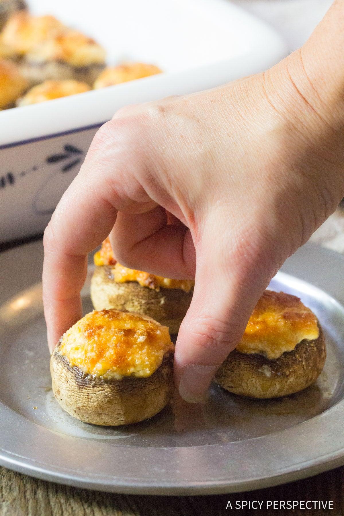 The Best Cheese Stuffed Mushrooms