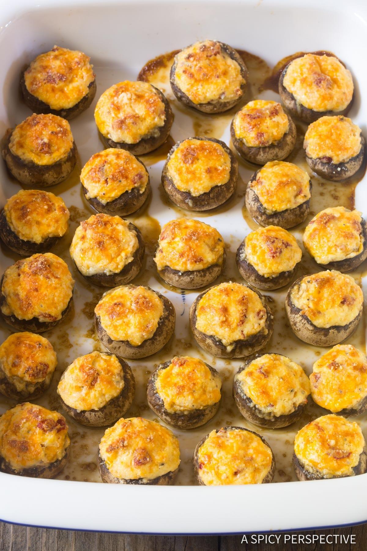 The Best Cheese Stuffed Mushrooms Recipe