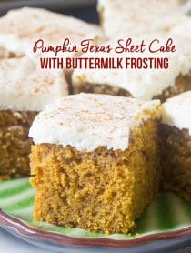 Best Pumpkin Texas Sheet Cake with Buttermilk Frosting Recipe #ASpicyPerspective