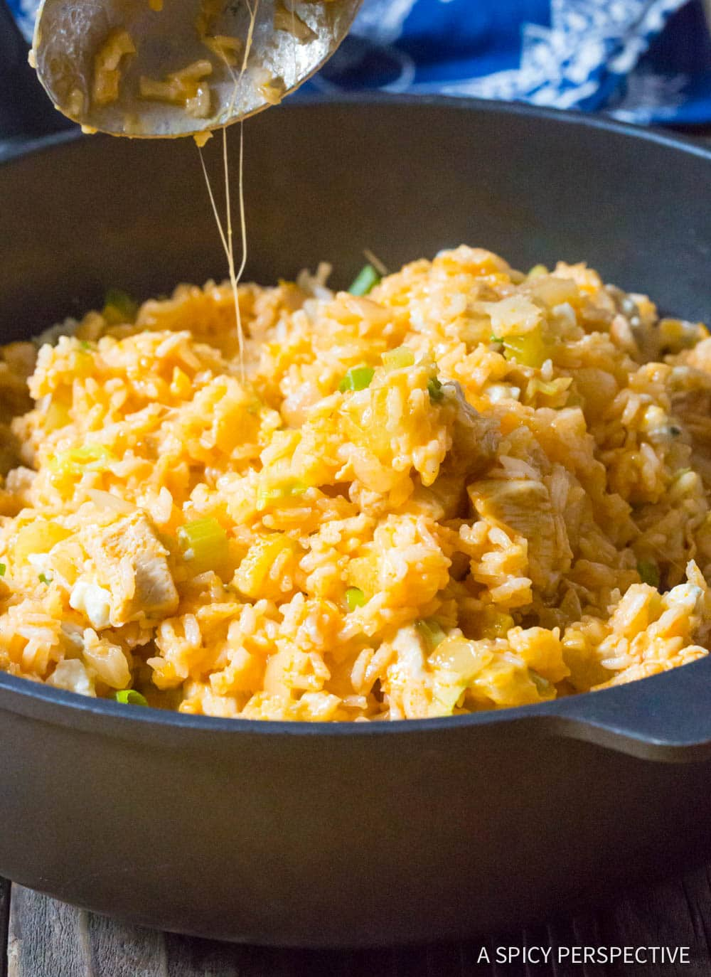 Bold One Pan Buffalo Chicken and Rice Skillet Recipe #ASpicyPerspective