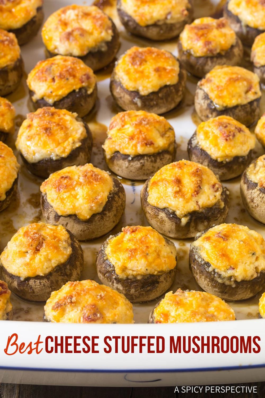 The Best Cheese Stuffed Mushrooms Recipe #ASpicyPerpective