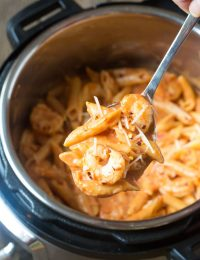 Instant Pot Shrimp Pasta with Vodka Sauce Recipe #ASpicyPerspective