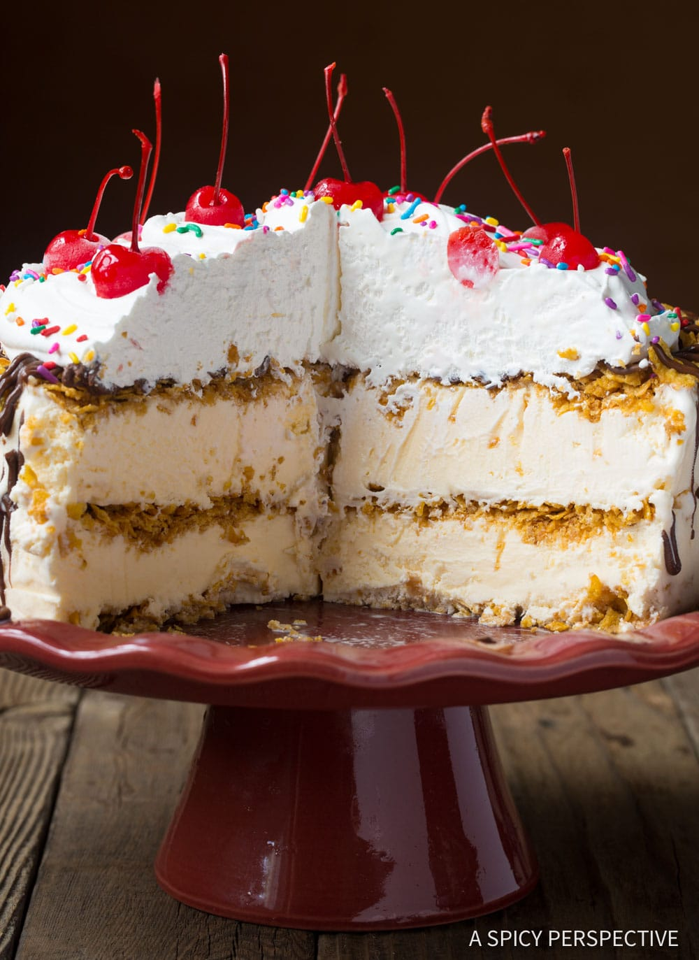 Best Mexican Fried Ice Cream Cake Recipe #ASpicyPerspective