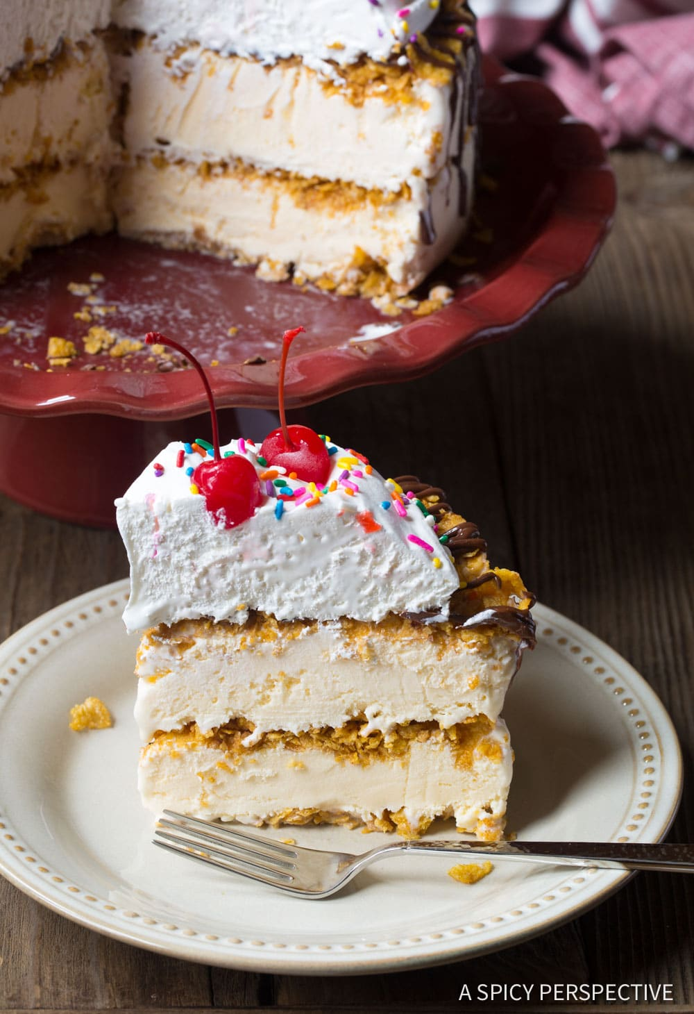 Wow! Mexican Fried Ice Cream Cake Recipe #ASpicyPerspective