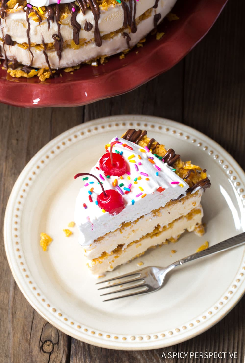 Perfect Mexican Fried Ice Cream Cake Recipe #ASpicyPerspective
