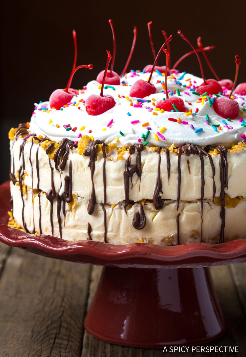 Mexican Fried Ice Cream Cake Recipe #ASpicyPerspective