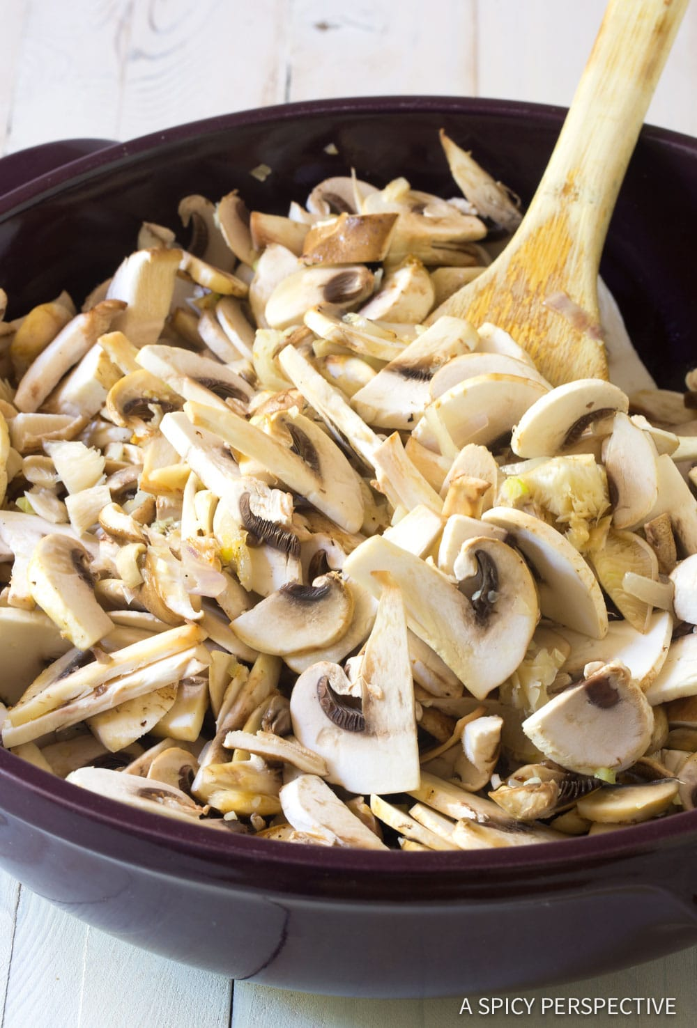 Making Mushroom Rice Pilaf Recipe #ASpicyPerspective