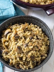 Mushroom Rice Pilaf Recipe #ASpicyPerspective