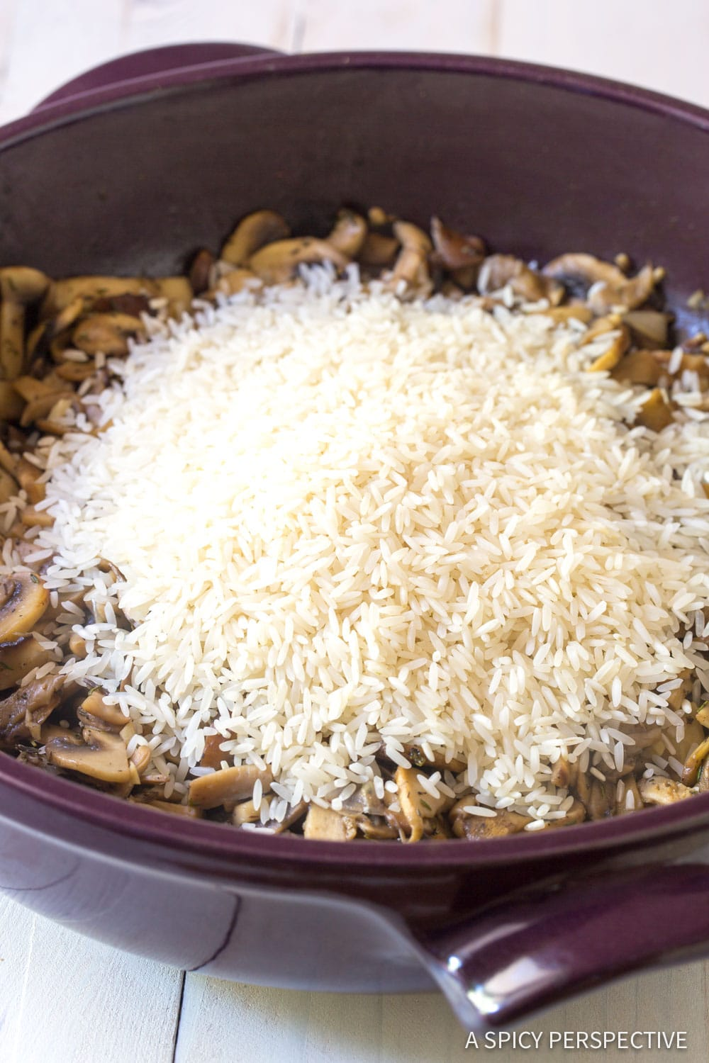 How To Make Mushroom Rice Pilaf Recipe #ASpicyPerspective