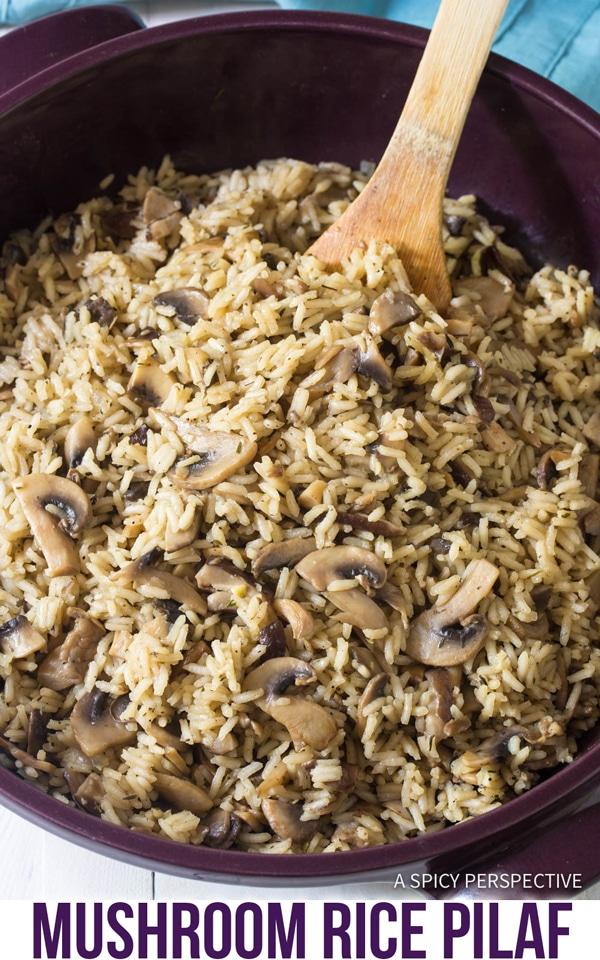 Perfect Mushroom Rice Pilaf Recipe #ASpicyPerspective