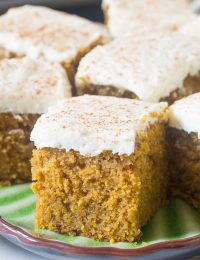 Pumpkin Texas Sheet Cake with Buttermilk Frosting Recipe #ASpicyPerspective
