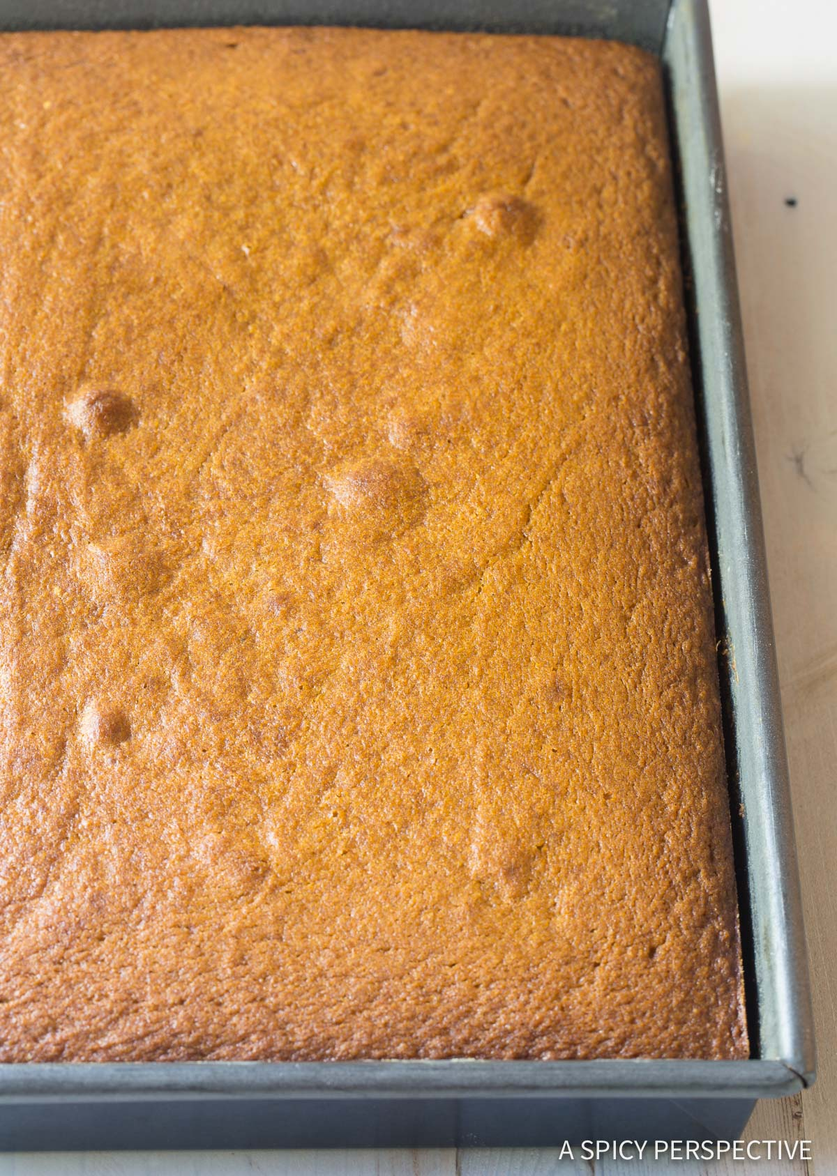How To: Pumpkin Texas Sheet Cake with Buttermilk Frosting Recipe #ASpicyPerspective