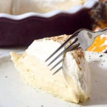 Cinnamon Cream Pie with Brown Sugar Whipped Cream Recipe #ASpicyPerspective #thanksgiving #christmas
