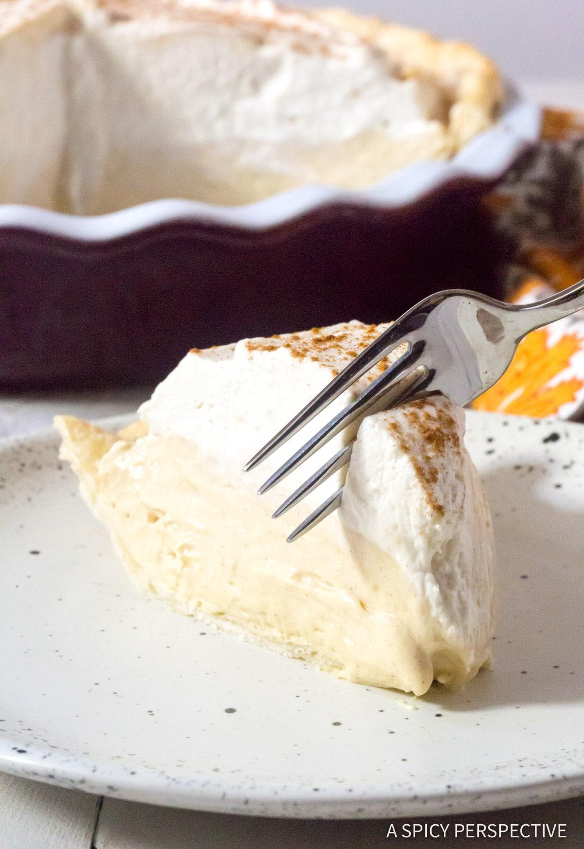 Cinnamon Cream Pie With Brown Sugar Whipped Cream