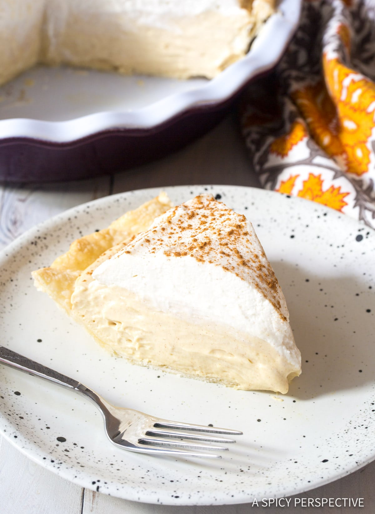Cinnamon Cream Pie with Brown Sugar Whipped Cream Recipe #ASpicyPerspective